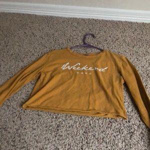 Longsleeved crop shirt